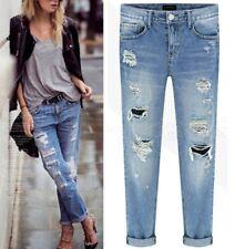 Jeans Pantaloni Donna Strappati Woman Denim Ripped Jeans JEA014 P