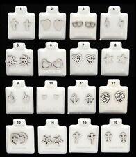 Stud Earrings SURGICAL STEEL Hypoallergenic - CHOOSE DESIGN - Gift Boxed