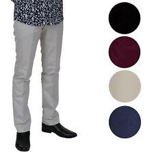 Relco Men's Sta Press Trousers Black Khaki Wine Stone Blue Beige Stay Pressed