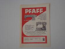 advertising Pubblicità 1956 MACCHINA PER CUCIRE PFAFF 234-6/332-260