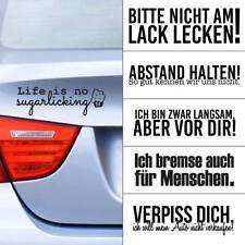 """Auto Aufkleber""""Autosprüche"""" Heckscheibe Sprüche witzig lustig Sticker Matt/Glanz"""