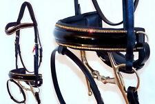 FSS STELLAR Curve U TOPAZ GOLD CRYSTAL PIPING EDGE Comfort PATENT Crank Bridle