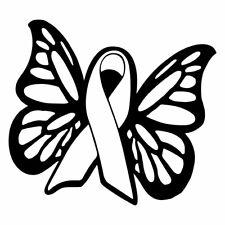 "4.5"" CAUSE RIBBON BUTTERFLY Vinyl Decal Sticker Car Window Cancer Awareness"