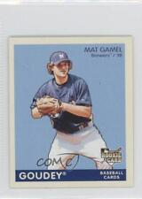 2009 Upper Deck Goudey Mini Blue Back #107 Mat Gamel Milwaukee Brewers Card