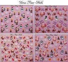Nail Stickers CHRISTIMAS XMAS Self Adhesive  Nail Art DIY 3d  Snowman - UK