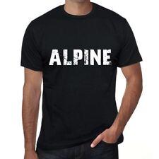 alpine Uomo Maglietta Nero Regalo Di Compleanno 00546