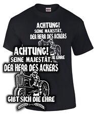 T-Shirt Landwirt Bauer MÄJESTÄT DER HERR DES ACKERS Beruf Spruch lustig Traktor