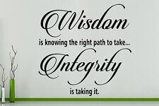 Sabiduría KNOWING a la derecha camino para tomar INTEGRIDAD