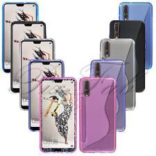Para Huawei P20 Nuevo Original Gel Transparente Carcasa de Goma para Móvil +