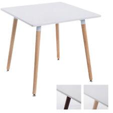 Table BENTE petite appoint bois plateau blanc mat cuisine salon chambre neuf