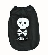 """Accessoire animaux : vêtement t-shirt costume pour chien , """" Killer """" noir"""