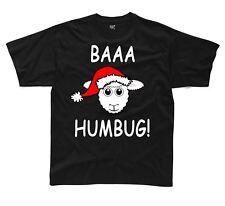 Baaa Humbug Sheep with Santa Hat Christmas Funny Childrens Kids T-Shirt