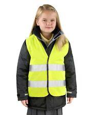 Fluorescent Jaune enfants garçon filles HAUT Hi viz visibilité Gilet de sécurité