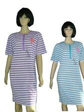 b1339b1b5aebd7 Damen Nachthemd kurzer Arm Sleepshirt Gr. M(40/42)-XXXL(