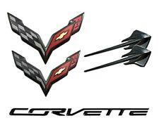 NEW Carbon Flash Emblem Set 2015-2019 Chevrolet Corvette Stingray 23465587