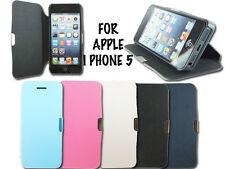 NEW SLIM FLIP SIDE WALLET PHONE CASE COVER FOR APPLE I PHONE 5