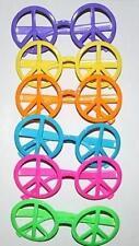 Neon Peace Sign Glasses Hippie Accessory