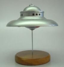 George Adamski Flying Saucer Mahogany Kiln Dry Wood Model Small New
