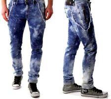 Bray Steve Alan Uomo Elegante Jeans Slim Slavati Con Borsa Zip L