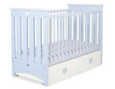 Babybett / Kinderbett Lorenzo III Farbe blau + Maxi Schublade + Matratze