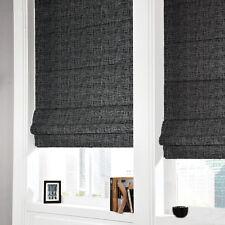 Classic New Linen Textured Roman Blinds - 100% Blockout for Room Darkening