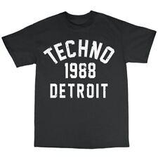 Detroit Techno 1988 T-Shirt 100% Cotton Juan Atkins Kevin Saunderson