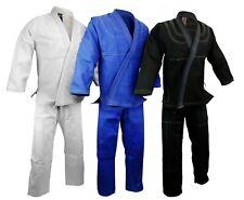 Bjj Gi Kimono, 100% cotton Preshrunk, Jiu Jitsu Uniform Blue/White/Black set