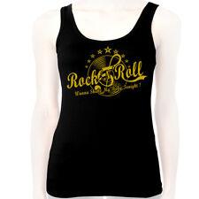 DEBARDEUR Tank Top Haut Femme - ROCK'N'ROLL - Musique Clé de Sol Rockeuse Pin-Up