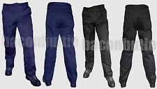 Multi 6 Pocket Cargo Combat Work Wear Trousers Pants Knee Pad Pocket Black Navy