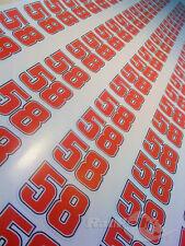 Marco Simoncelli # 58 Race números Stickers Calcomanías gráficos X4 pequeñas