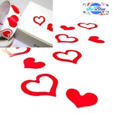 Pegatinas Corazón Rojo-Doble Corazones Amor Boda San Valentín Día de las madres Tarjetas Etc.