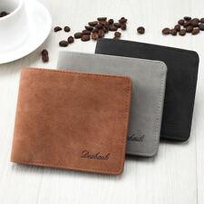 Men's Leather Wallet Clutch Bifold Purse ID Card Holder Billfold Slim Money Clip