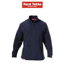 Mens Hard Yakka Foundations Plain Polar Fleece 1/4 Zip Jumper Durable Y19315