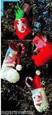 Crocheted Christmas Santa or Elf Stocking Pattern-Loopy