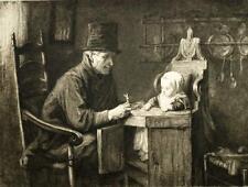 LES BONS CAMARADES ENFANTINA Gravure à l'eau forte revue l'art 1879