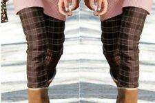 Mädchen Stiefel Hose Karo style braun weiß rosa kariert 146 152 158 164 170 182