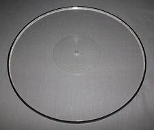 SRM TECH UNIVERSAL ACRYLIC PLATTER - TRANSCRIPTORS?? - INC. PLATTER DAMPING RING