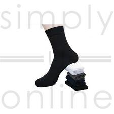 3 Pack Mens Plain Super Soft Bamboo Blend Socks Thin Light Weight Summer Socks