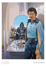 Star Wars Empire Strikes Back Lando Calrissian Fett Vader Art Giclée on Paper