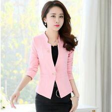 traje chaqueta de mujer slim larga manga larga rosa sciacrata slim 1245