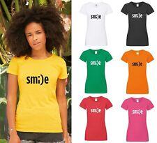 Sonrisa T-Shirt-Damas Sexy Top De Vacaciones Verano Vibes feliz