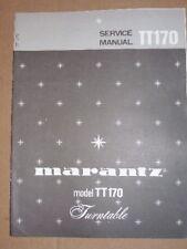 Marantz Service/Repair Manual~TT170 Turntable