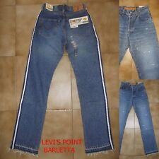 Jeans Sfilacciato Energie Branded Uomo Con Banda Laterale Fasciata Taglia W 30