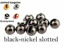 Angelsport-Fliegen-Bindematerialien Angelsport-Artikel 1000 Black Nickel Tungsten Fly Tying Beads Assorted Sizes B