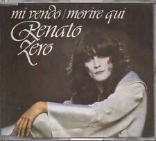 RENATO ZERO CD SINGOLO PICTURE 2 tracce MADE in ITALY Mi vendo + Morire qui