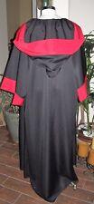 Poplin Black/Red Sith Order Robe with a deep hood & half sleeves