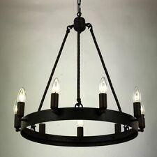 Vintage Black Chandelier Lights Brilliance LED Candle Loft Interior Lighting New