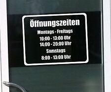 WD Öffnungszeiten Schaufensterbeschriftung Aufkleber Laden Geschäft Werbung