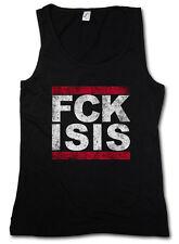 VINTAGE FCK FUCK ISIS TANK TOP GYM Run DMC Pro Islam Anti Terror Style Stop IS