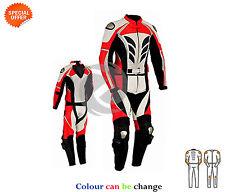 NEUF Superbe Modèle deux pièces combinaison de moto cuir rouge veste pantalon